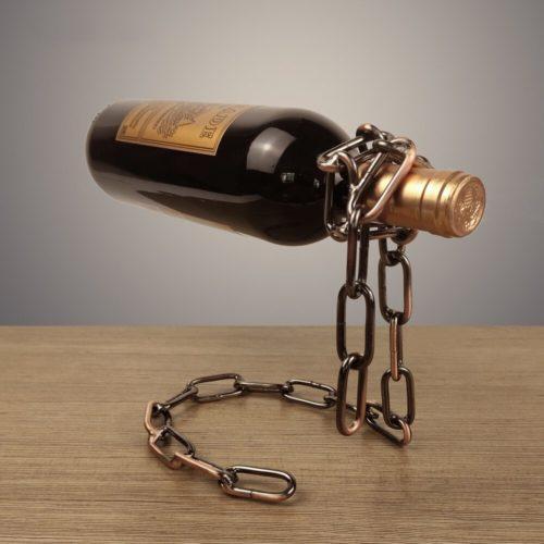 Magic Chain Floating Wine Bottle Holder