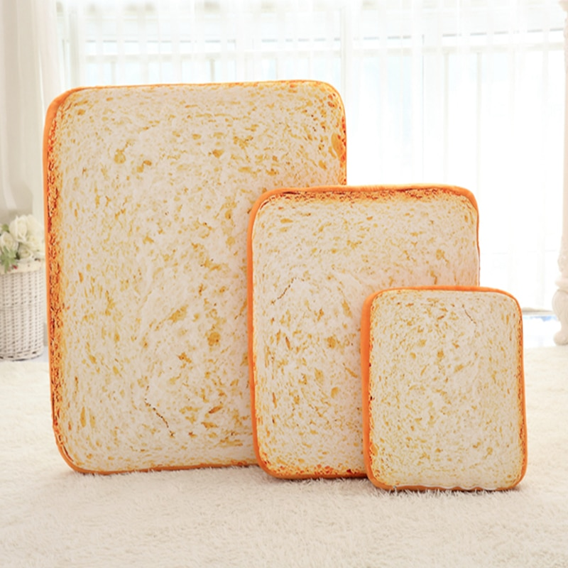 40 60 80cm square Washable Simulation toast bread pillow sofa chair cushion soft pillow cushion is very comfortable and elastic