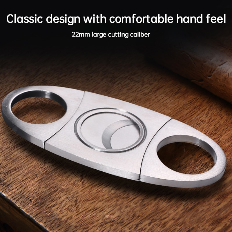 Cigar Cutter Brand New Stainless Steel Metal Classic Cigar Cutter Guillotine With Gift Box Christmas Cigar Scissors Gift @