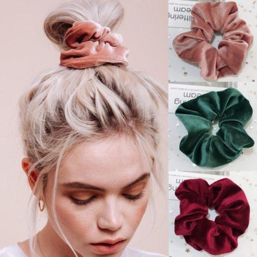 Velvet Scrunchie Hair Accessory