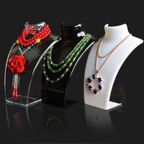 Acrylic Necklace Mannequin Display Stand