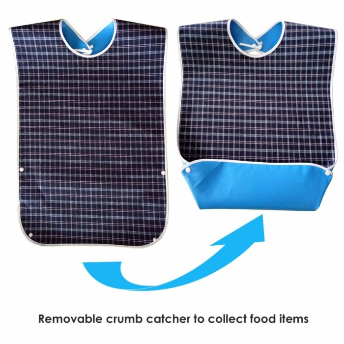 Bibs for Adults with Crumb Catcher (3pcs)