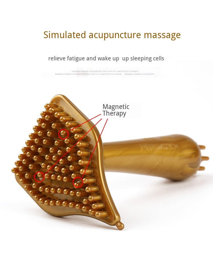 Cellulite Massager Brush Weight loss Scraping Instrument Magnetic Therapy Dredge Meridian Guasha Instrument Body Leg back relax