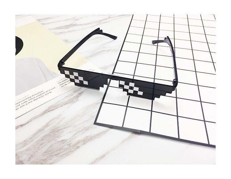 Glasses 8 Bit MLG Pixelated Sunglasses Women Brand Thug Life Party Eyeglasses Ladies Vintage Female Eyewear