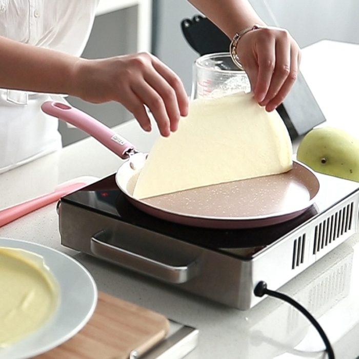 Non-Stick Pink Frying Pan