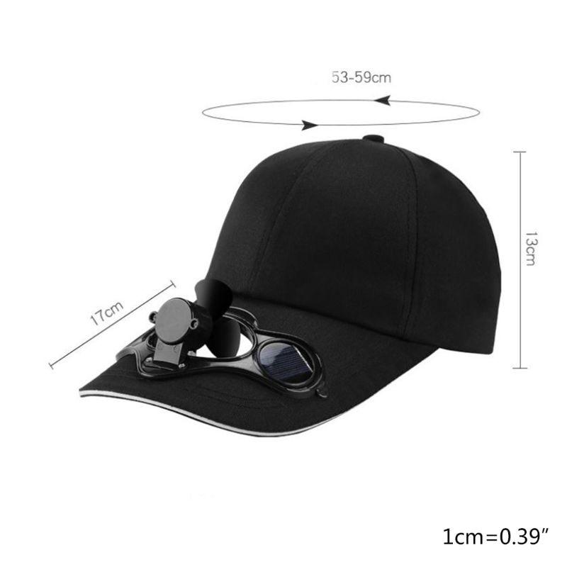 2020 Summer Solar Panel Powered Cooling Fan Baseball Cap Outdoor Peaked Sun Visor Hat