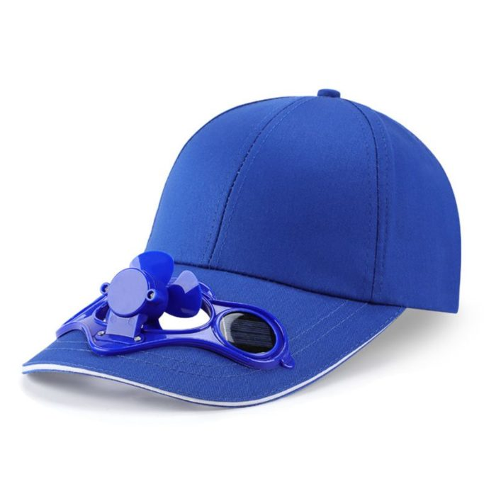 Outdoor Cooling Solar Fan Cap