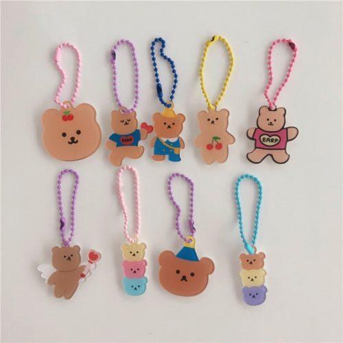Cute Acrylic Cartoon Bear Keychain