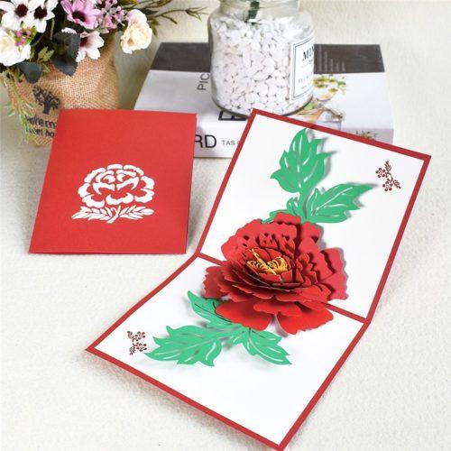 Paper 3D Pop Up Flower Card