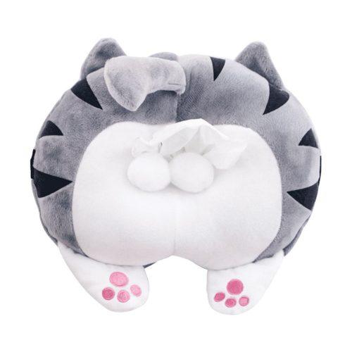 Plush Cat Butt Tissue Holder