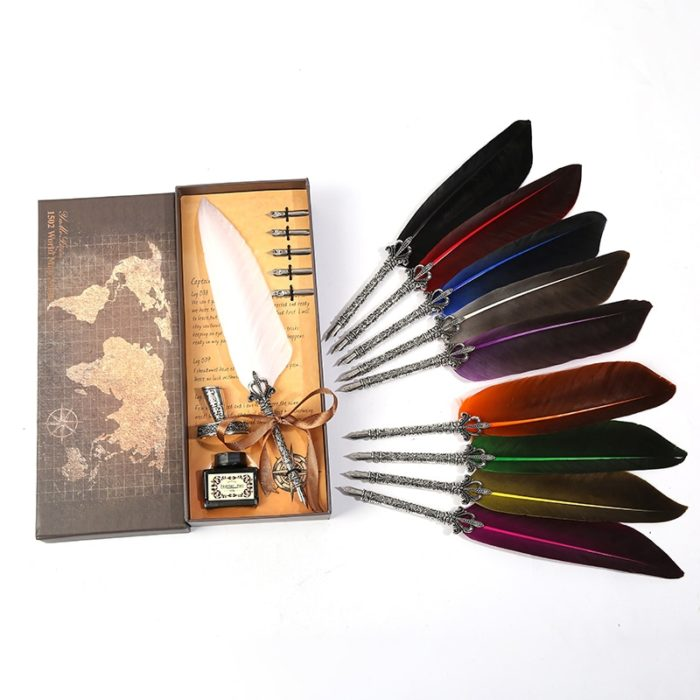 Vintage Style Feather Writing Pen