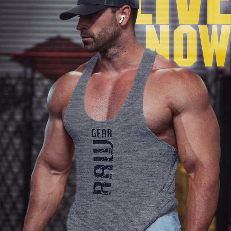 2021 new mens cotton tank tops shirt gym fitness vest sleeveless male casual bodybuilding sports man Workout clothes clothing