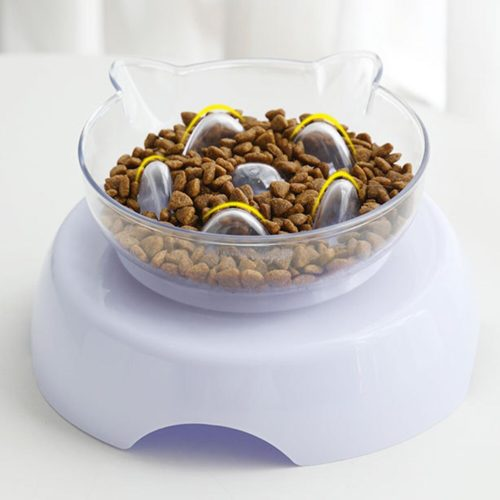 Slow Feeder 15° Raised Cat Food Bowl