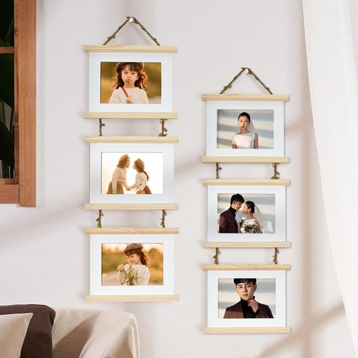 3 Connected Hanging Photo Frames