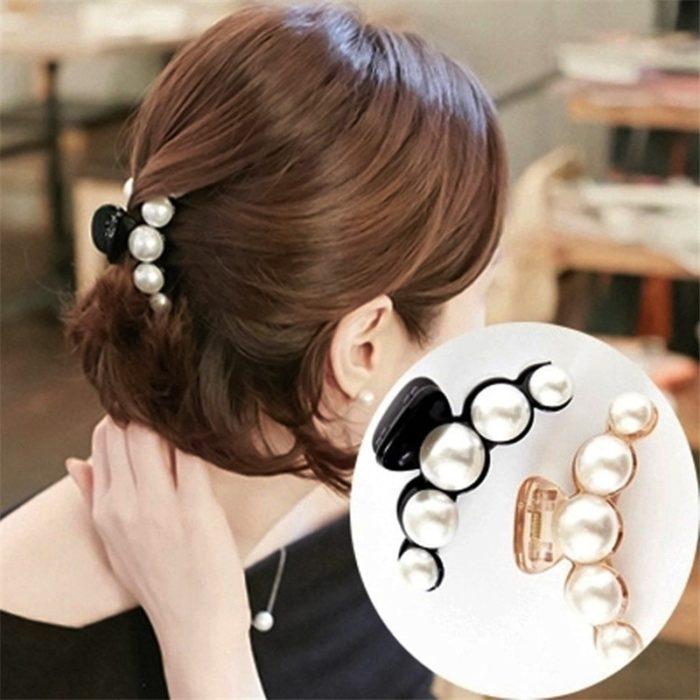 Pearl Hair Claw Head Accessory