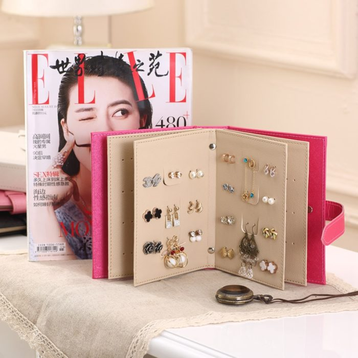 Faux Leather Earring Storage Book