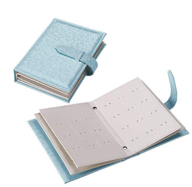 New Earrings And Earrings Storage Book Creative Jewelry Jewelry Box All Leather Earrings Storage Book Wholesale Customization