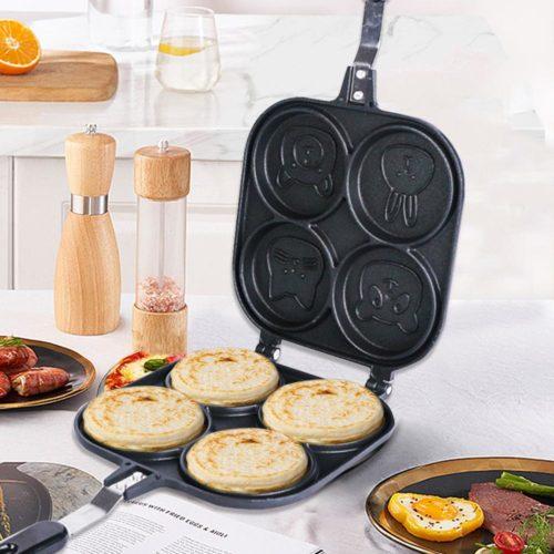Four-Slot Non-Stick Animal Pancake Pan