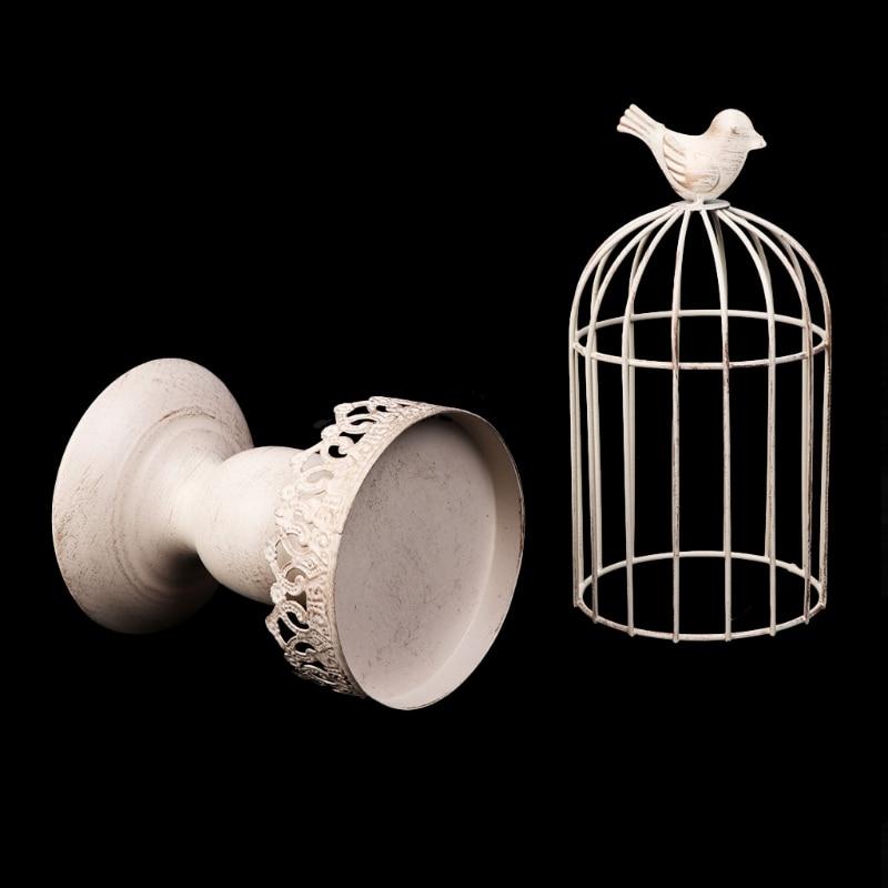 Drop Ship&Wholesale Metal Bird Cage Candle Holder Tealight Candlestick Hanging Lantern Decor Gift Aug. 25