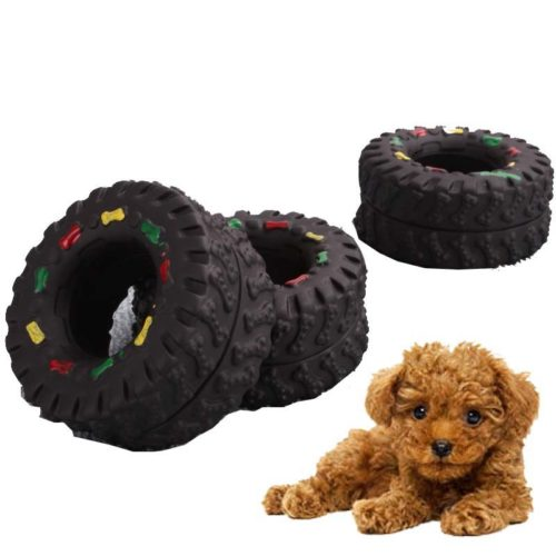 Squeaky Rubber Dog Tire Toy