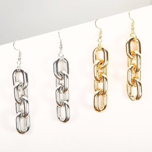Fashionable Dangle Link Chain Earrings