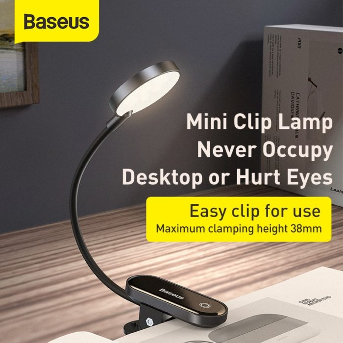 Rechargeable Clip-On Book Light Lamp
