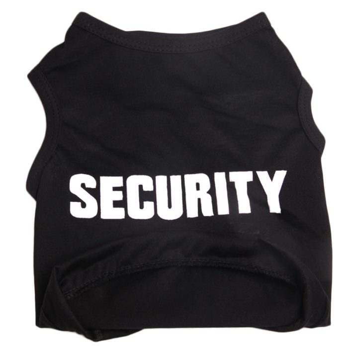 Security Dog Shirt Pet Costume
