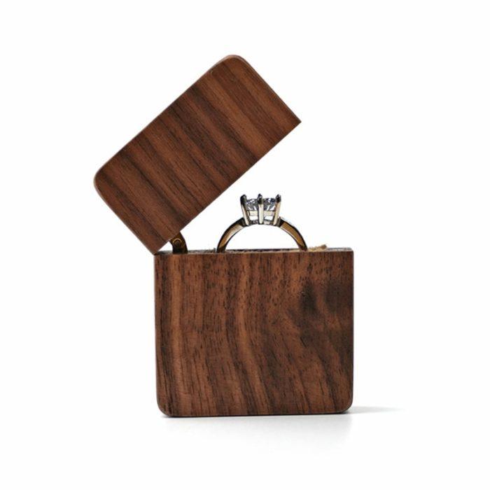 Walnut Wood Ring Box Storage