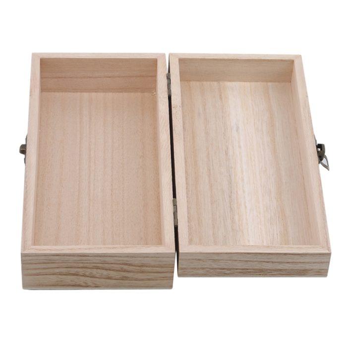 Natural Wood Jewelry Box Storage