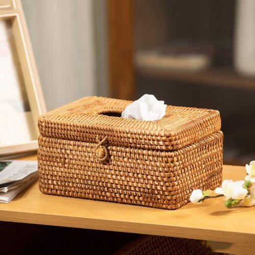 Natural Wicker Tissue Box Cover