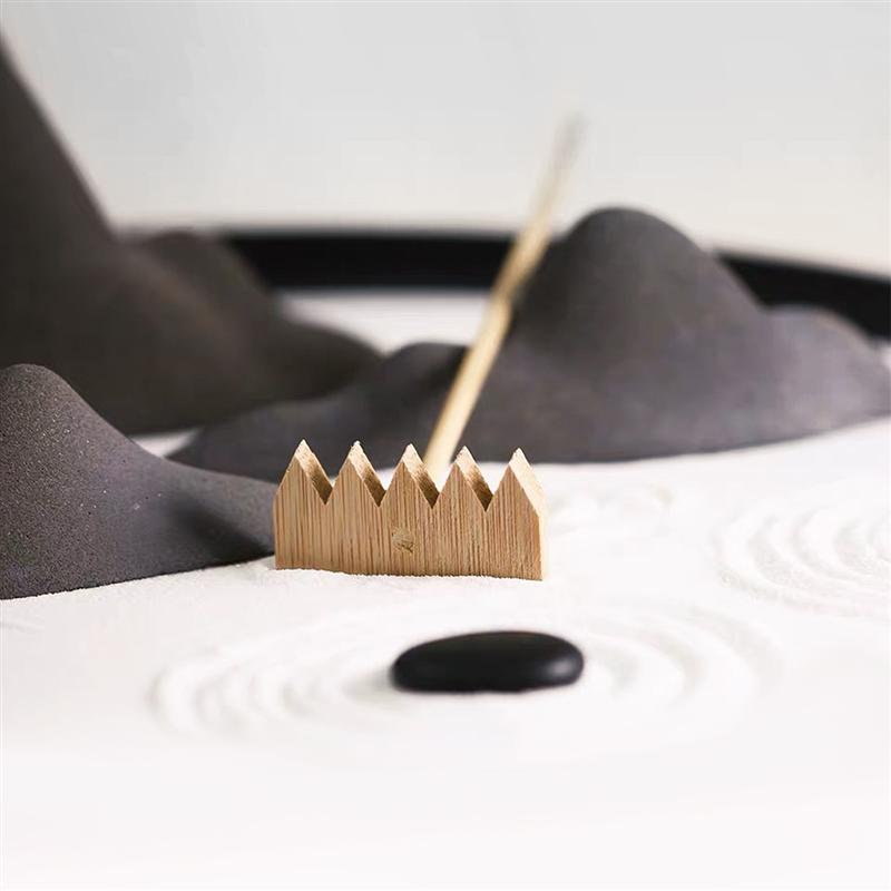 SUPVOX 3 Pcs Mini Rakes Tool For Zen Garden Sand Bamboo Tabletop Meditation Feng Shui Decor For Home Office