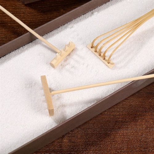 Bamboo Mini Zen Garden Rakes (3pcs)