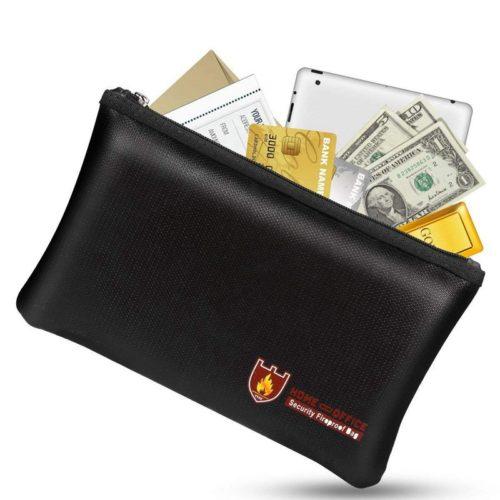 Fiberglass Cloth Fireproof Document Bag