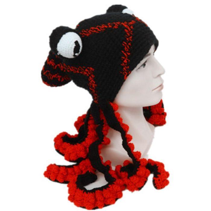 Crochet Octopus Hat Winter Headwear