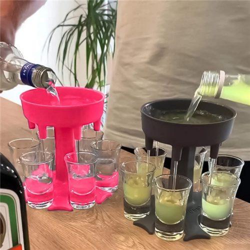 6 Shot Glass Dispenser Funnel