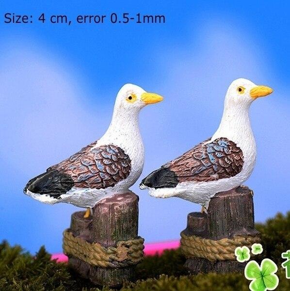 Mini Resin Seagull Ornaments (3pcs)