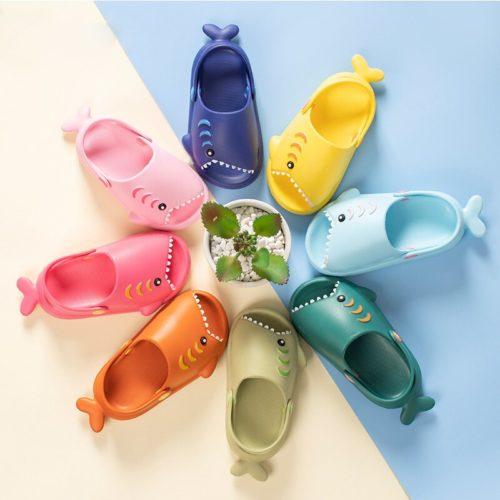 Cool Summer Kids Shark Slippers