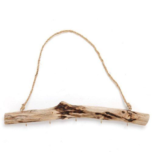 5-Hook Natural Driftwood Coat Rack