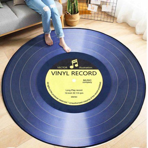 Vinyl Record Rug Floor Carpet