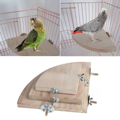 Wooden Bird Platform Perch