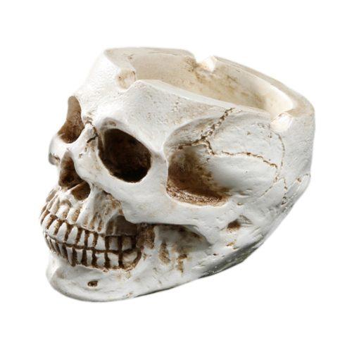 Resin Human Skull Ash Tray