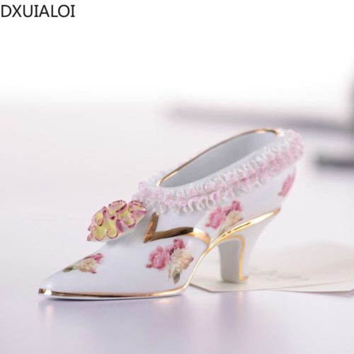 European Style Porcelain Shoe Decor