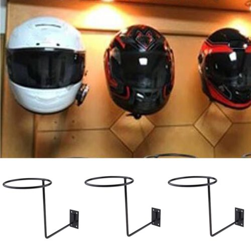 Wall-Mount Motorcycle Helmet Holders (3pcs)