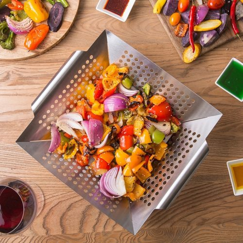Square Grill Basket for Veggies