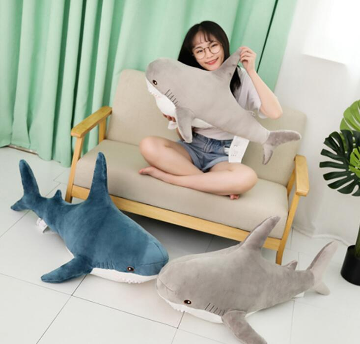 2020 Shark Plush Toys Popular Sleeping Pillow Travel Companion Toy Gift Shark Cute Stuffed Animal Fish Pillow Toys for Children