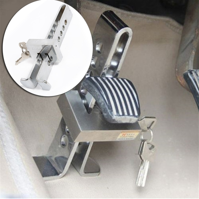 Universal Auto Car Brake Clutch Pedal Lock Alloy Steel Security Anti-Theft For Cars Truck Throttle Accelerator Pedal Lock