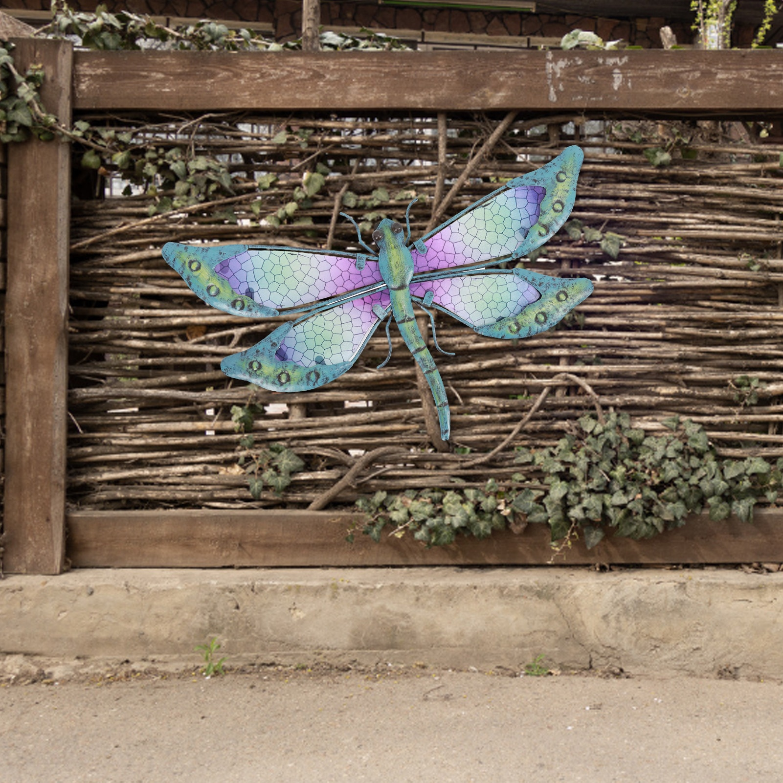 Metal Dragonfly Wall Art Garden Ornaments Miniaturas Animal Outdoor Statues And Sculptures Wall Hanging Dragonfly For Room Decor