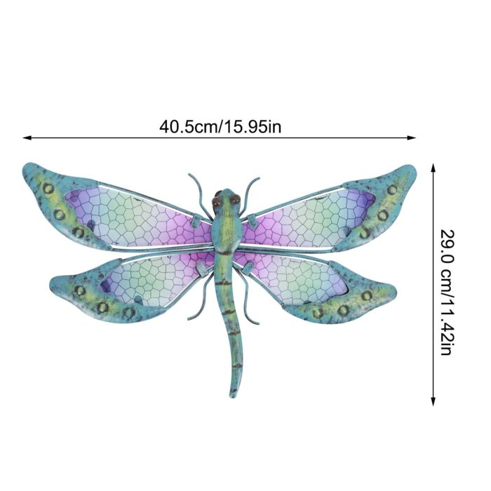 Glass and Metal Dragonfly Wall Art Decor