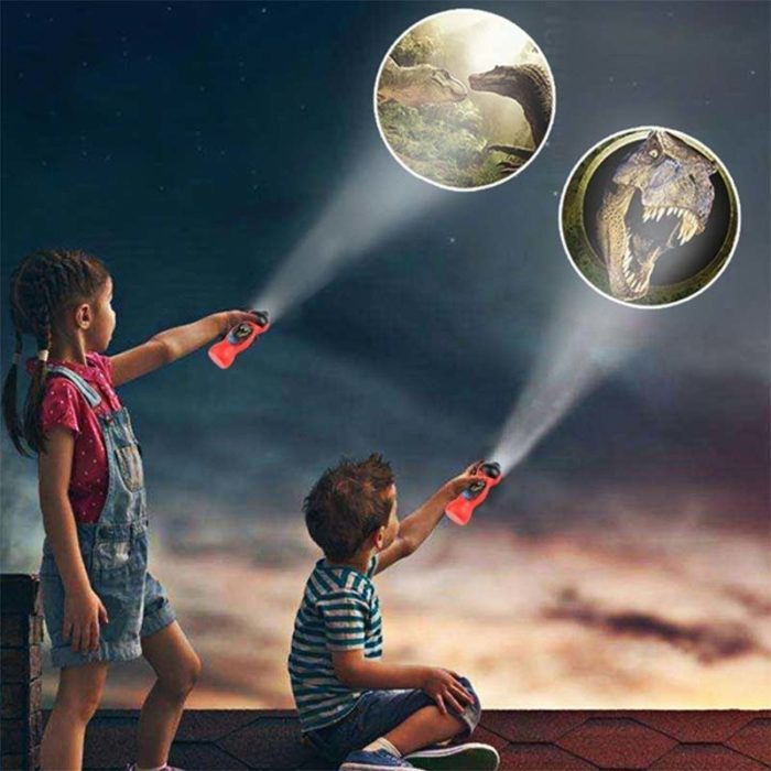 Handheld Dinosaur Projector Torch