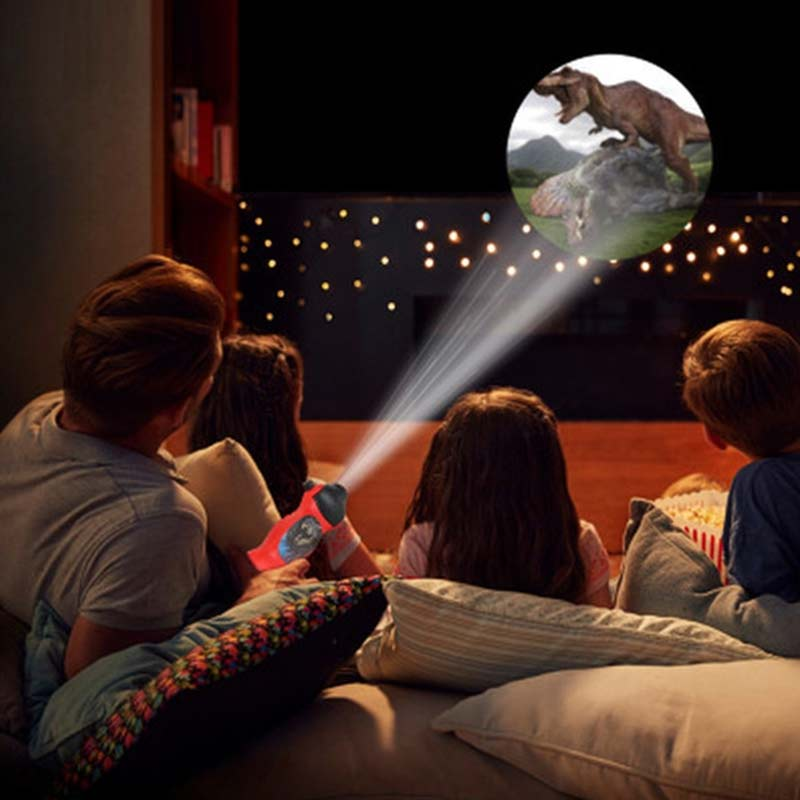 Children Dinosaur Projector Toy Flashlight Sleeping History Early Education Model Torch Flashlight Night Study Learning Fun Toys